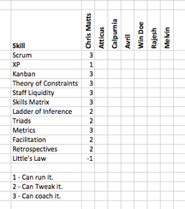 Mgmt Skills Matrix
